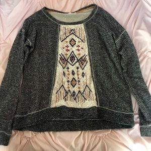 Sweaters - 3 for $12 Printed Lace Sweater